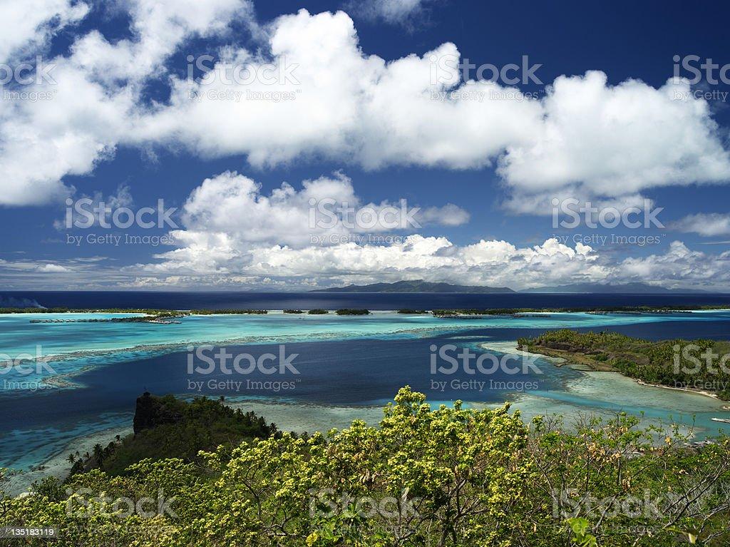 Bora-Bora Lagoon stock photo