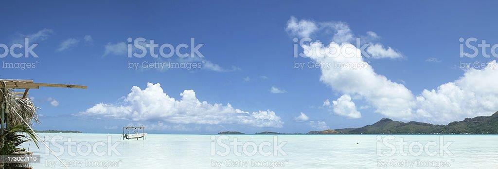 BoraBora Lagoon (XL) royalty-free stock photo