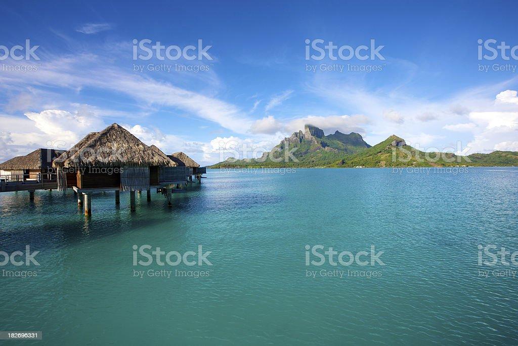 Bora-Bora lagoon royalty-free stock photo