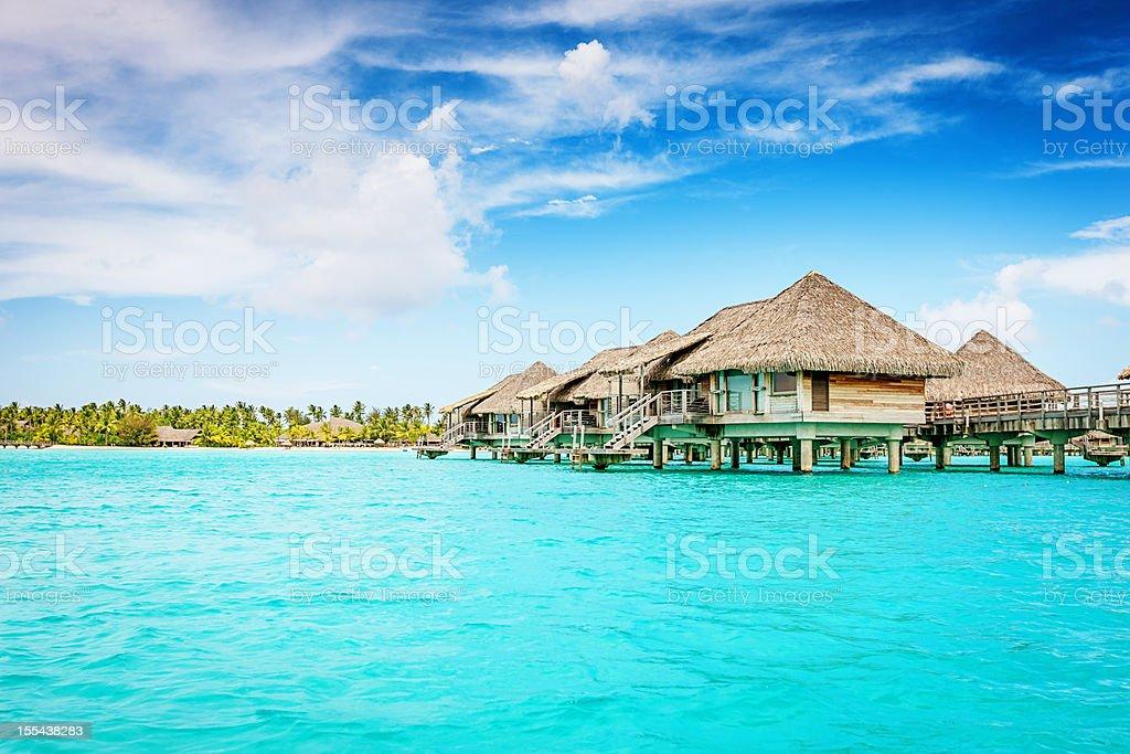 Bora-Bora Luxury Dream Holiday stock photo
