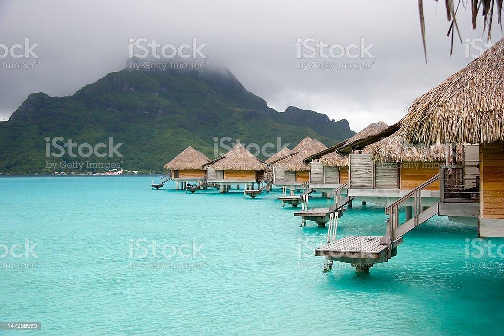 BoraBora Overwater Bungalow royalty-free stock photo