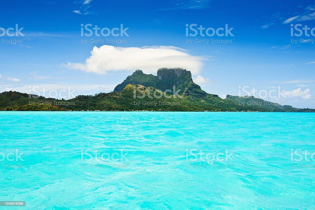 Bora-Bora Paradise Holiday Island royalty-free stock photo