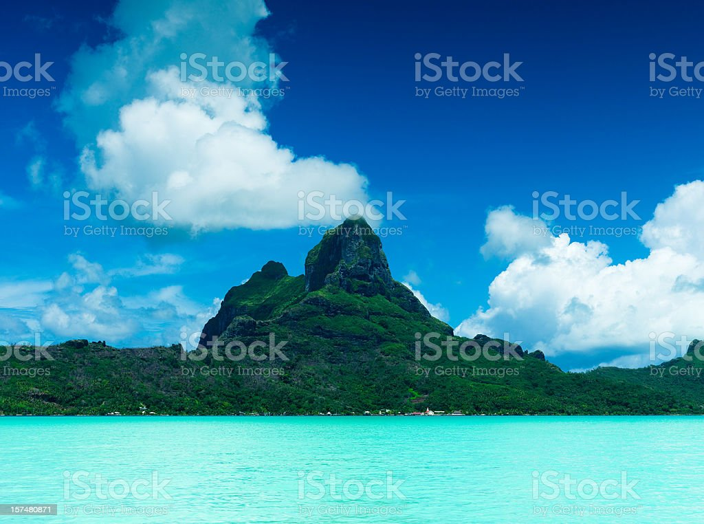 Bora-Bora Paradise Island royalty-free stock photo