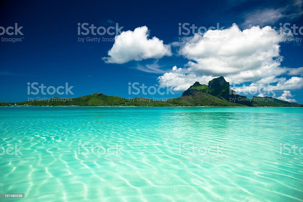 Bora-Bora Perfect Paradise Island royalty-free stock photo