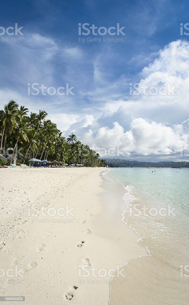Boracay island white beach philippines vertical panorama royalty-free stock photo