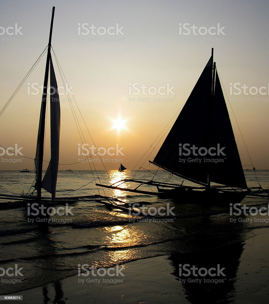 Boracay sunset royalty-free stock photo