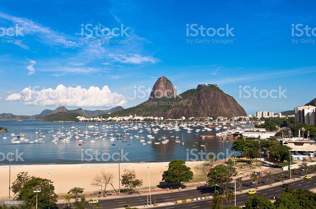 Borafogo and Sugarloaf Mountain, Rio de Janeiro stock photo