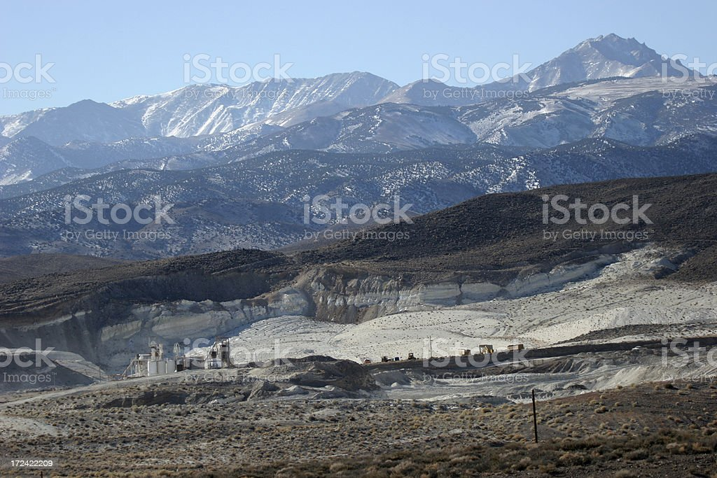 borax mine stock photo