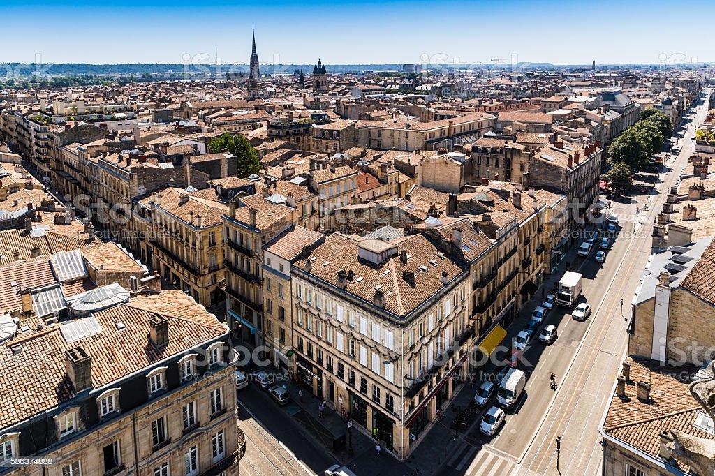 Bordeaux city roofscape stock photo