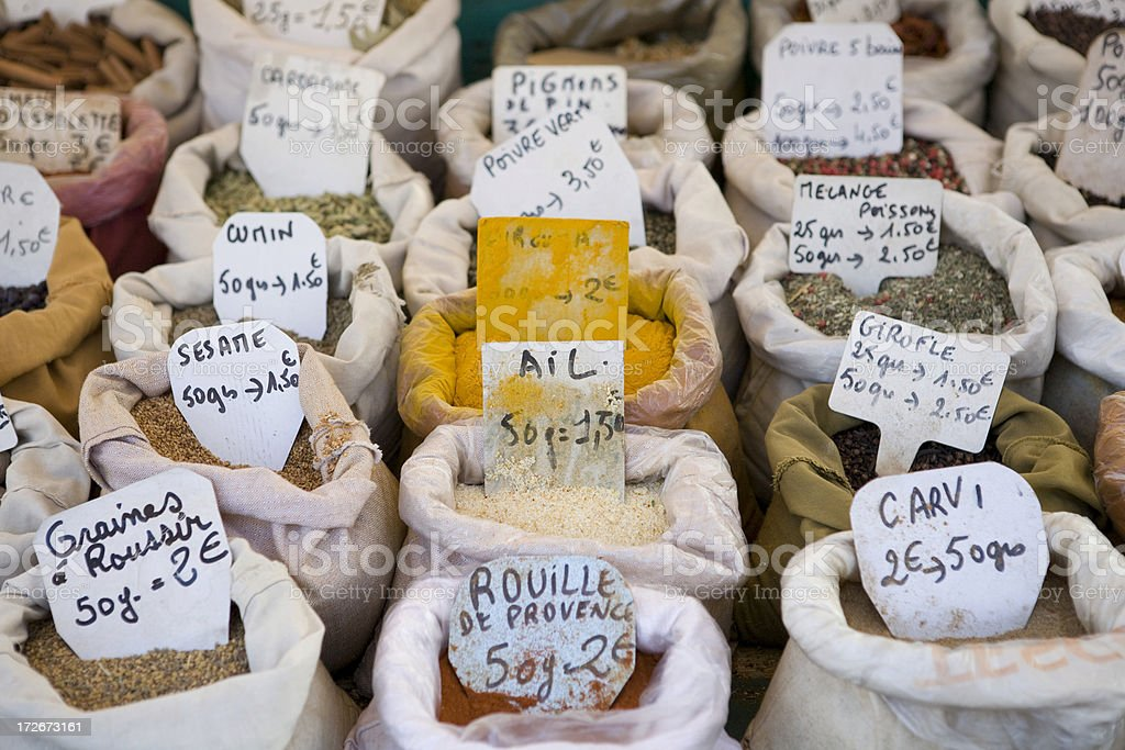 Bordeaux France spice market royalty-free stock photo