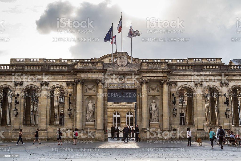 Bordeaux - Hotel de Ville stock photo