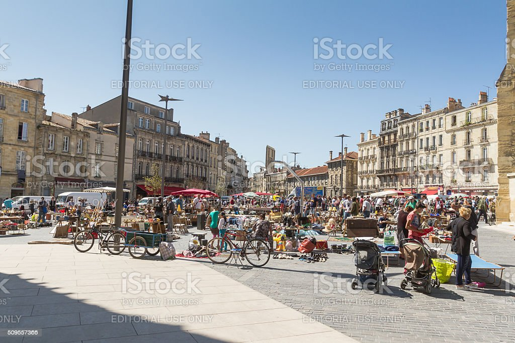 Bordeaux - Little market of used stuff stock photo