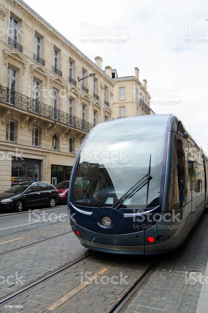 Bordeaux tram stock photo