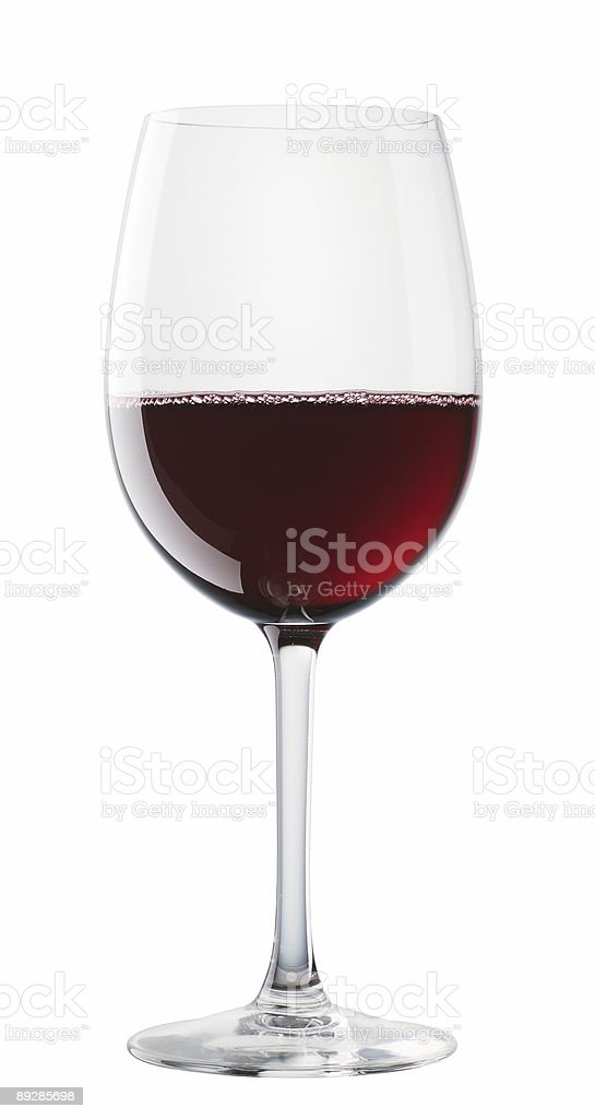 Bordeaux wine glass isolated on white background royalty-free stock photo