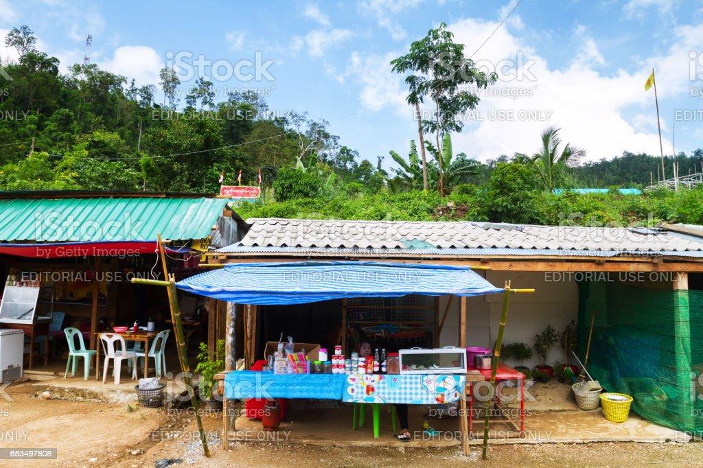 Border area Thailand and Myanmar stock photo