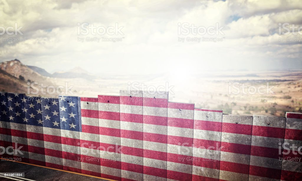 border barrier concept stock photo