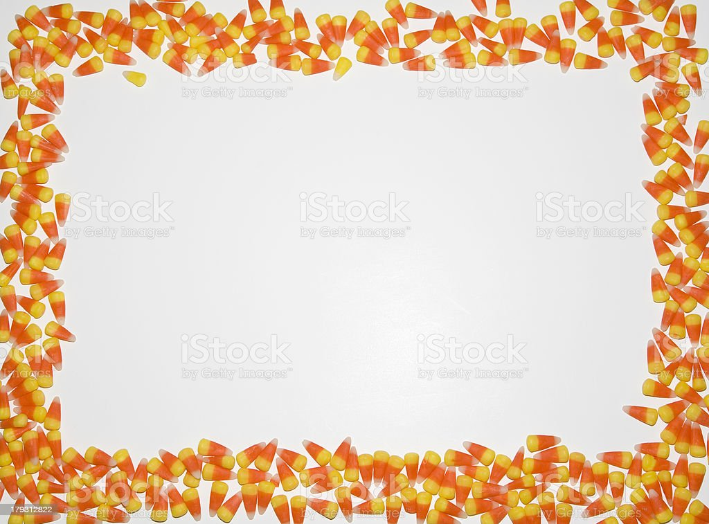Border - Candy Corn stock photo