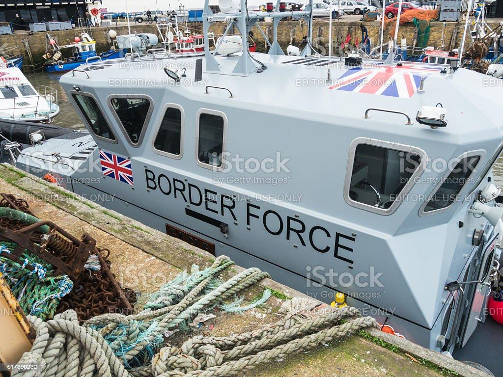 Border control vessel in Kent. stock photo