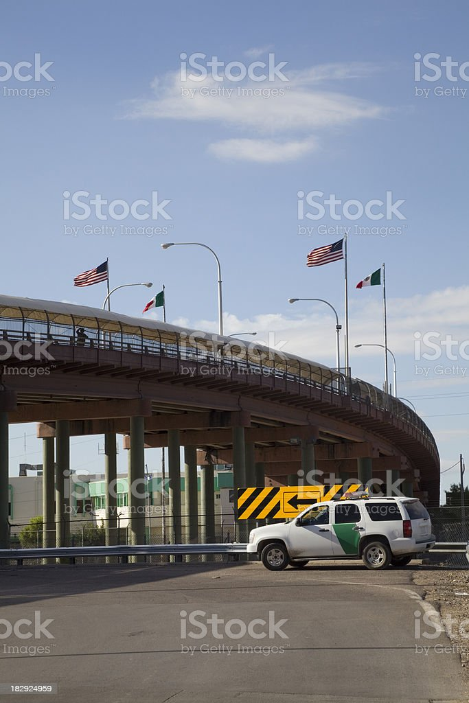 Border Crossing Between El Paso and Juarez royalty-free stock photo