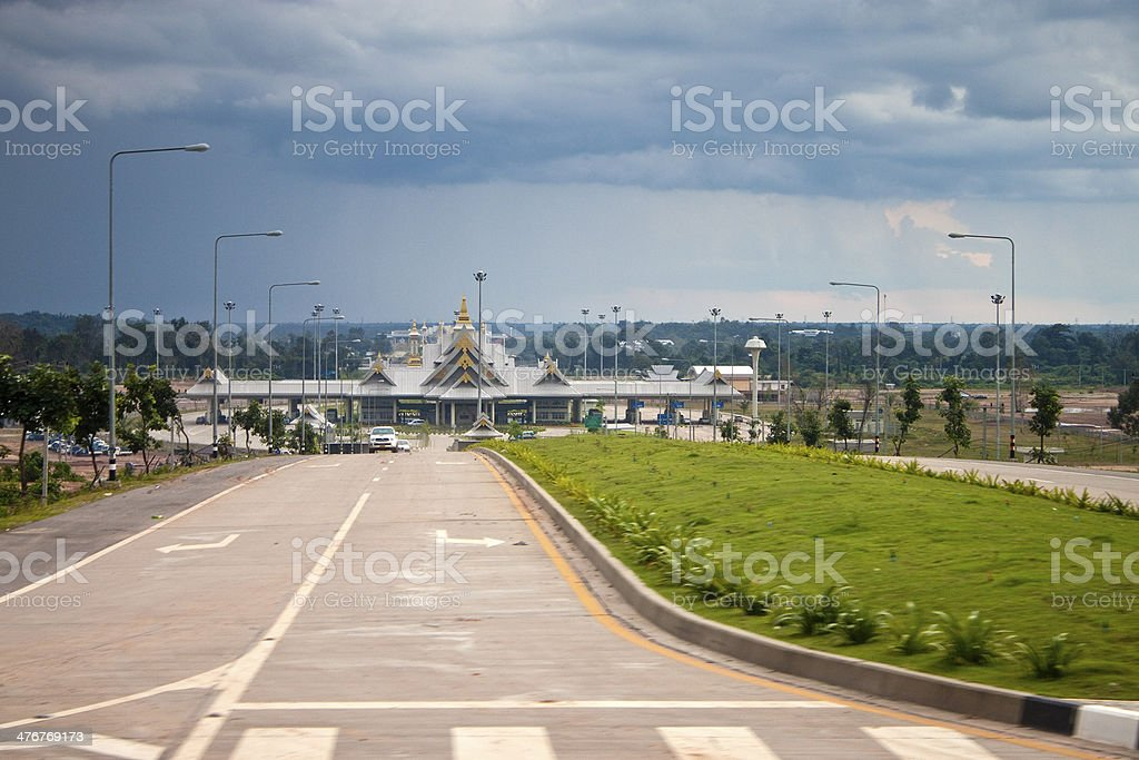 Border Crossing between Thailand and Laos stock photo