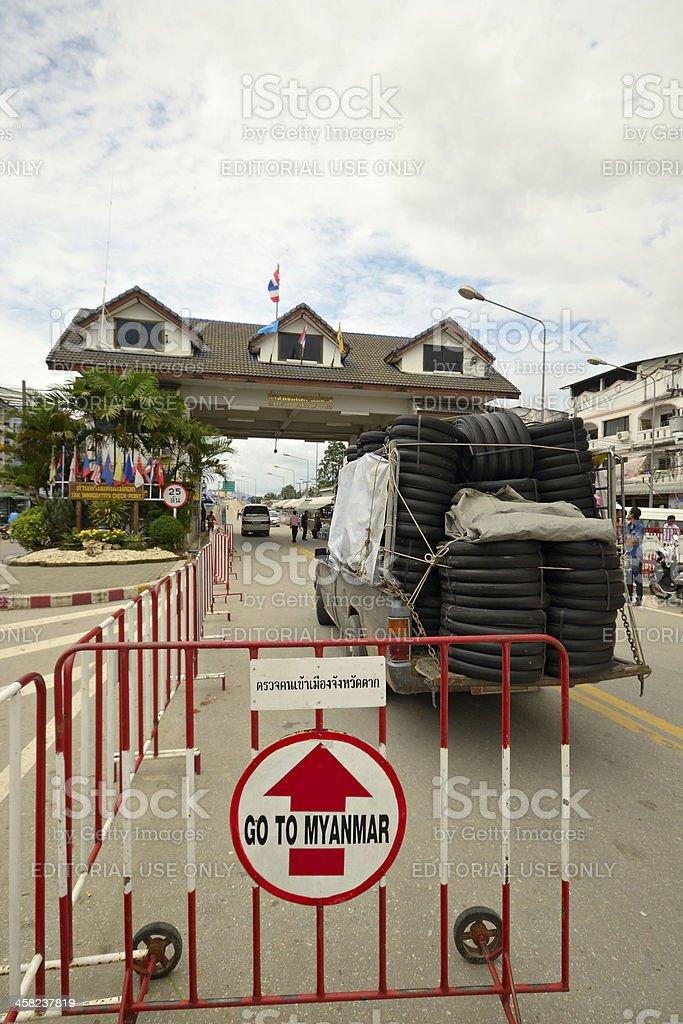 Border crossing in Mae Sod Thailand royalty-free stock photo