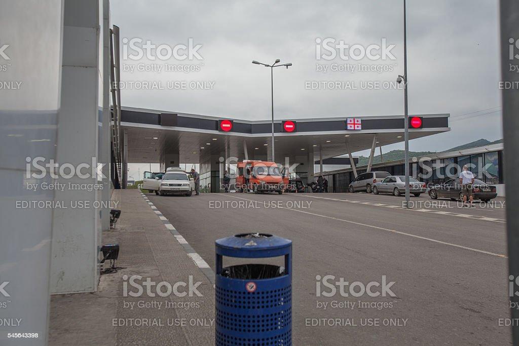 Border crossing into Georgia stock photo