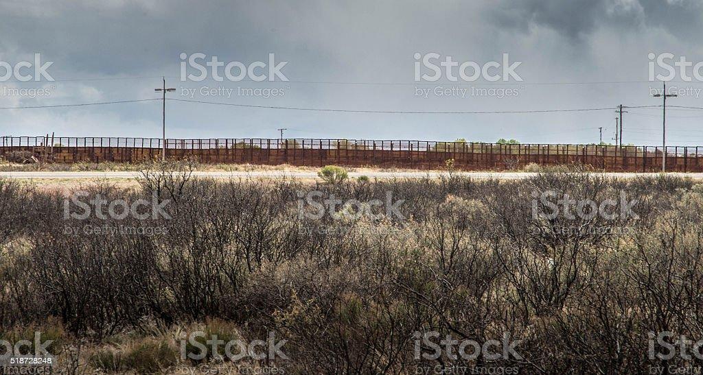 Border fence at Naco Arizona stock photo