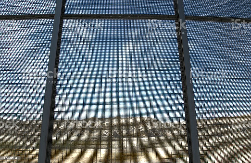 Border Fence between El Paso, Texas & Juarez, Mexico royalty-free stock photo