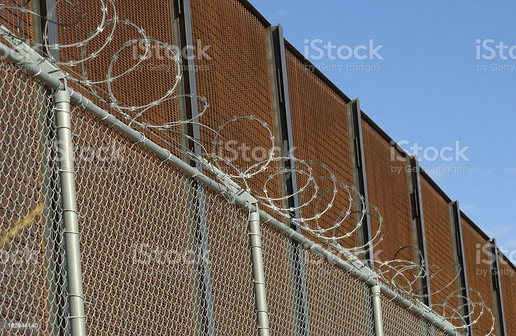 Border Fence between USA and Mexico royalty-free stock photo
