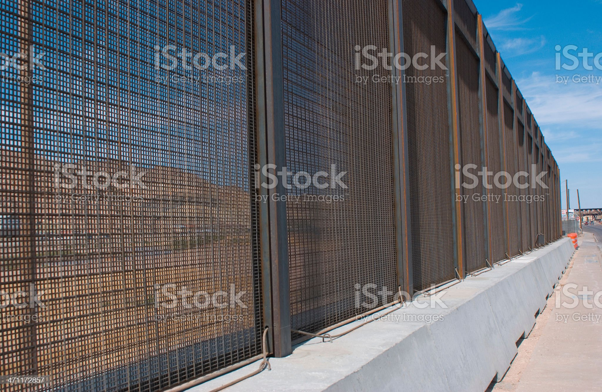 Border Fence Horizontal royalty-free stock photo