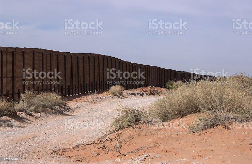 Border Fence - New Mexico royalty-free stock photo