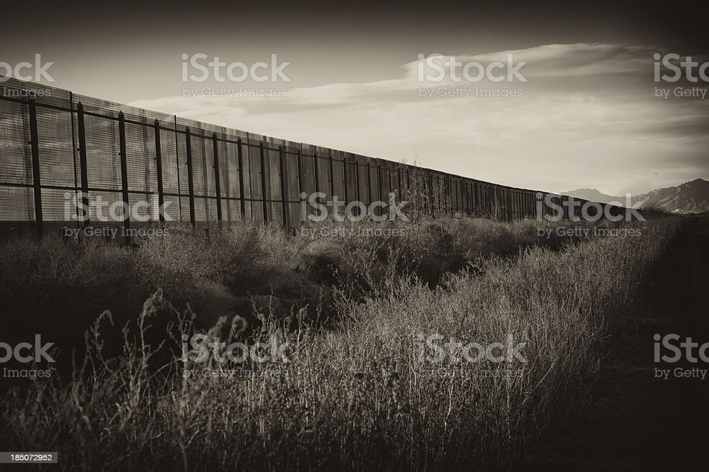 Border Fence royalty-free stock photo