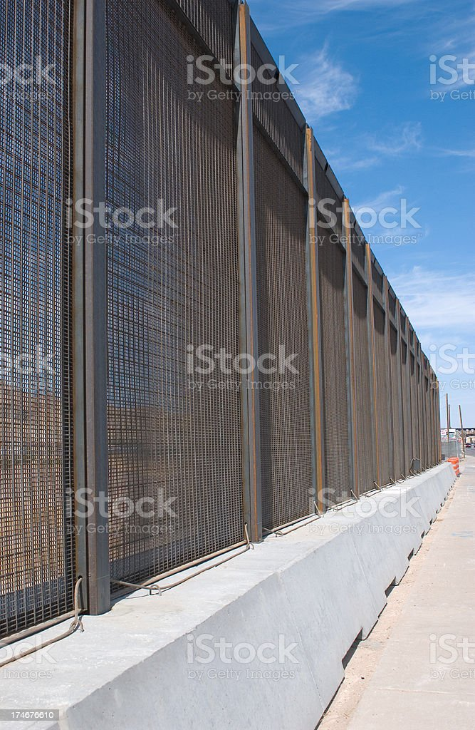 Border Fence Vertical stock photo
