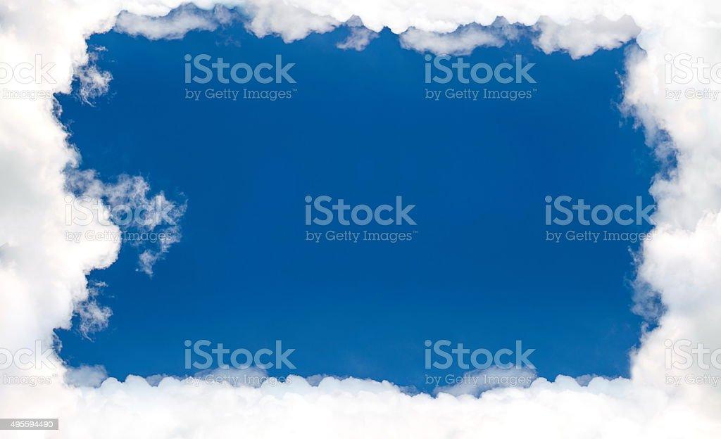 Border frame cloud blue sky stock photo