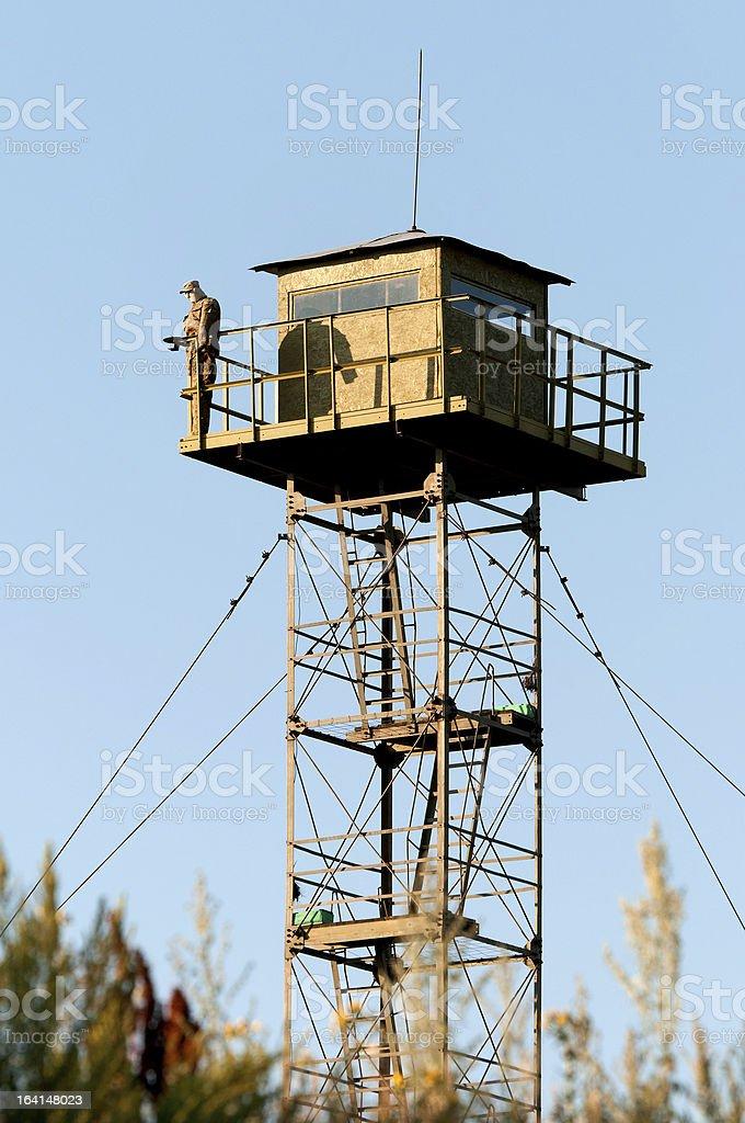 Border Guard watchtower royalty-free stock photo