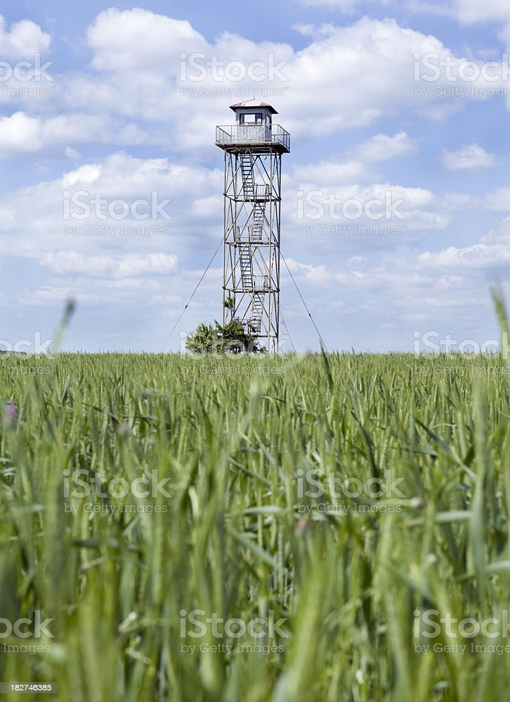 Border lookout tower stock photo
