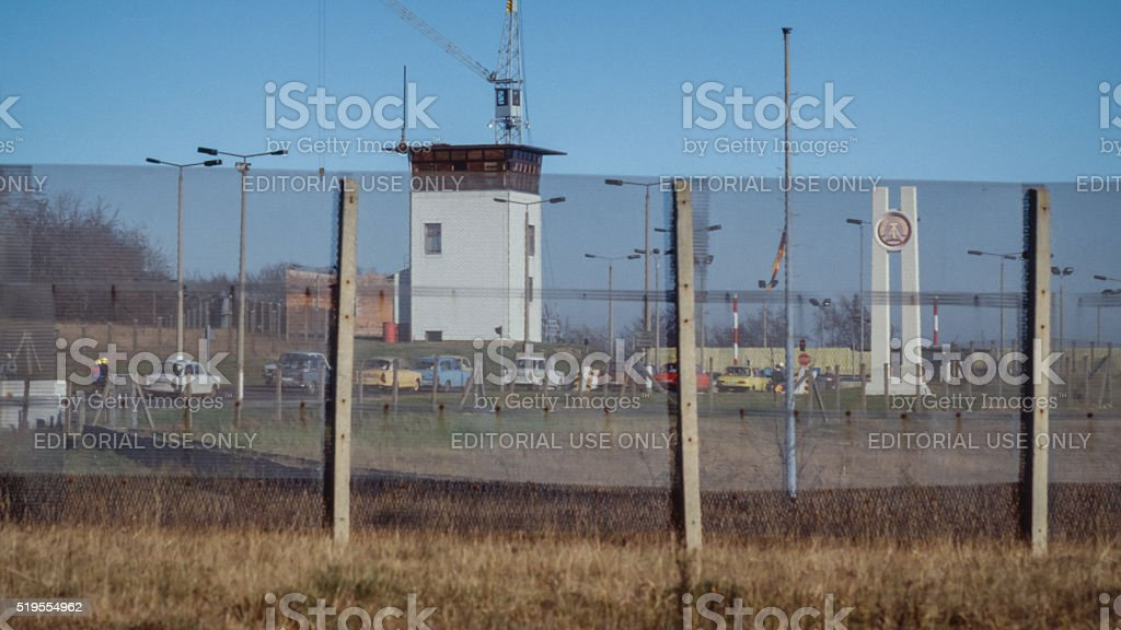 DDR Border November 1989 stock photo