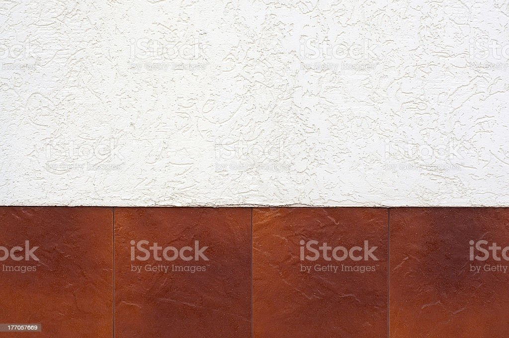 Border of brown tiles. royalty-free stock photo