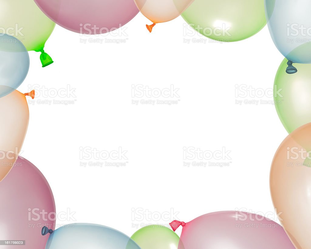 Border of inflated balloons from different colors royalty-free stock photo