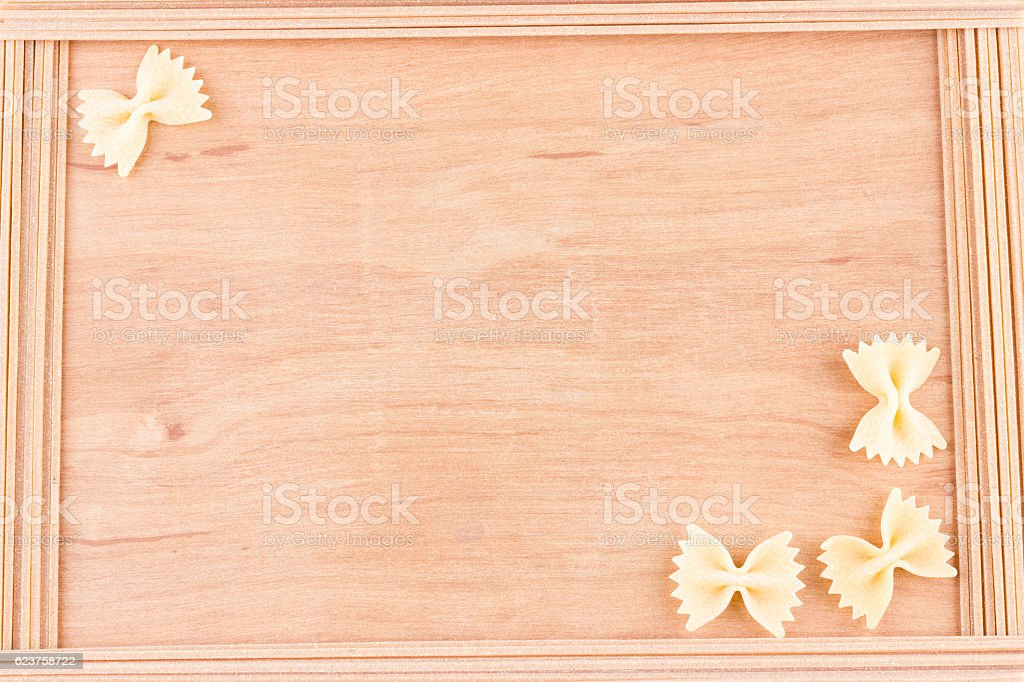 Border of pasta stock photo