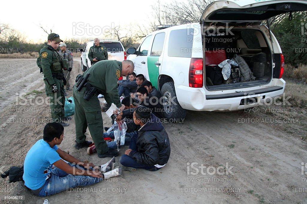 Border Patrol, Rio Grande Valley, Texas, Feb. 9, 2016 stock photo