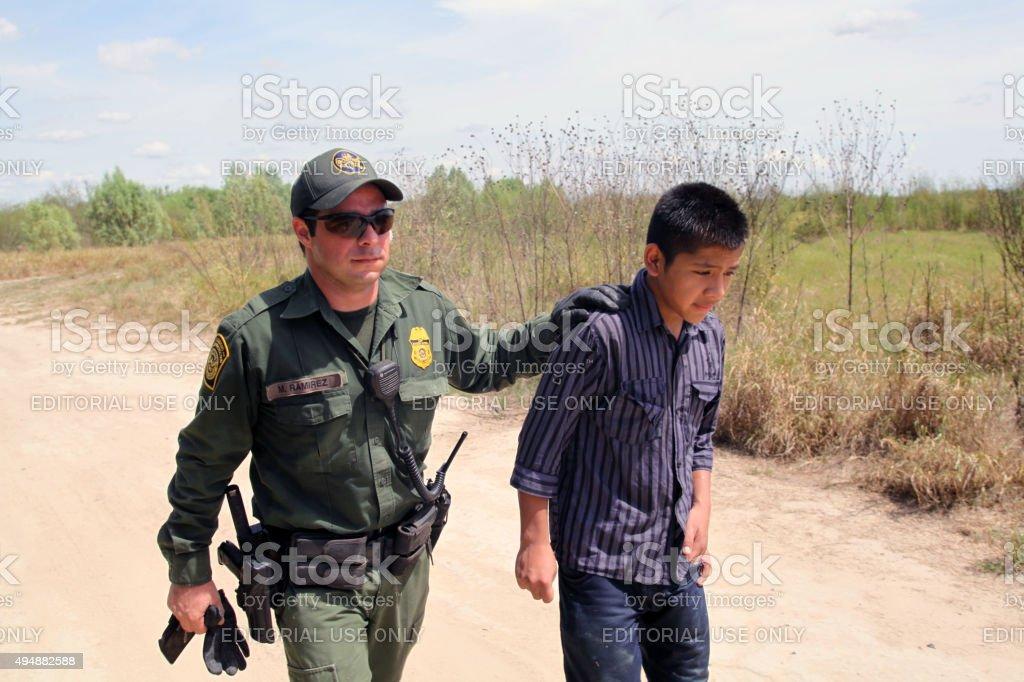 Border Patrol, Rio Grande Valley, Texas, Sept. 21, 2015 stock photo