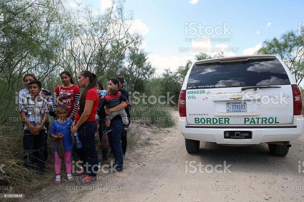 Border Patrol, Rio Grande Valley, Texas, Sept. 21, 2016 stock photo
