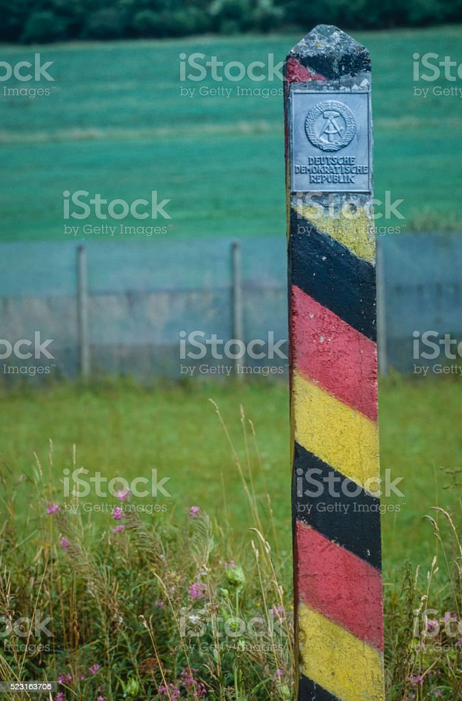 DDR Border stock photo