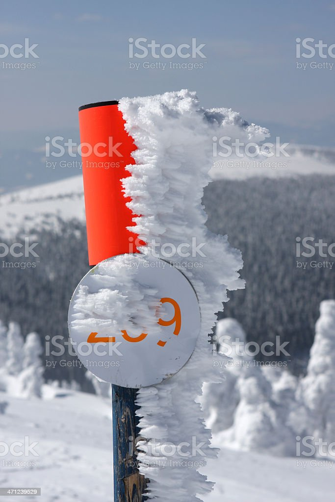 border pole stock photo