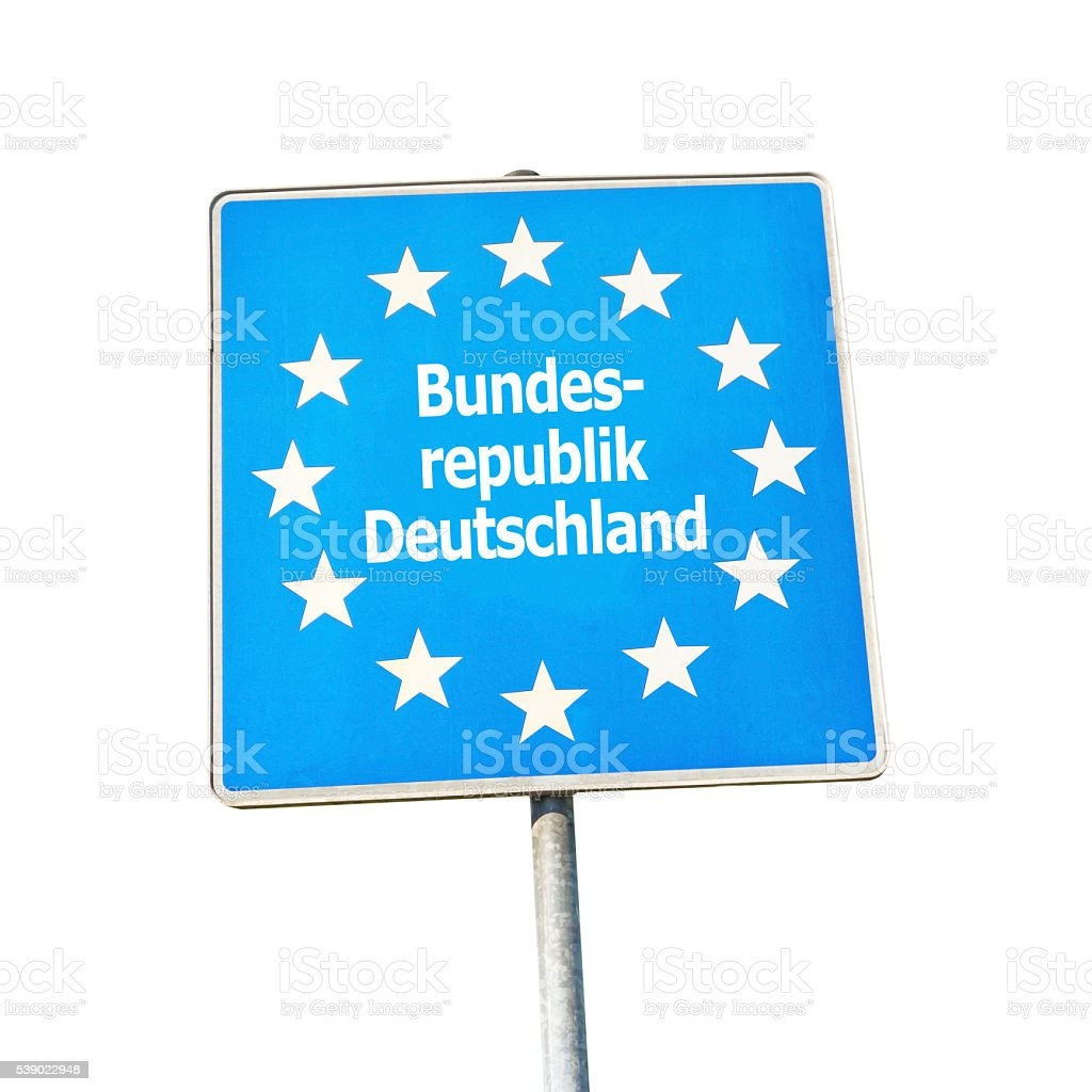 Border sign of germany, europe stock photo