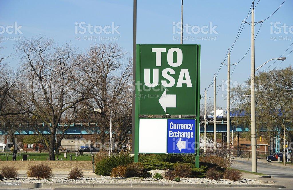Border sign stock photo