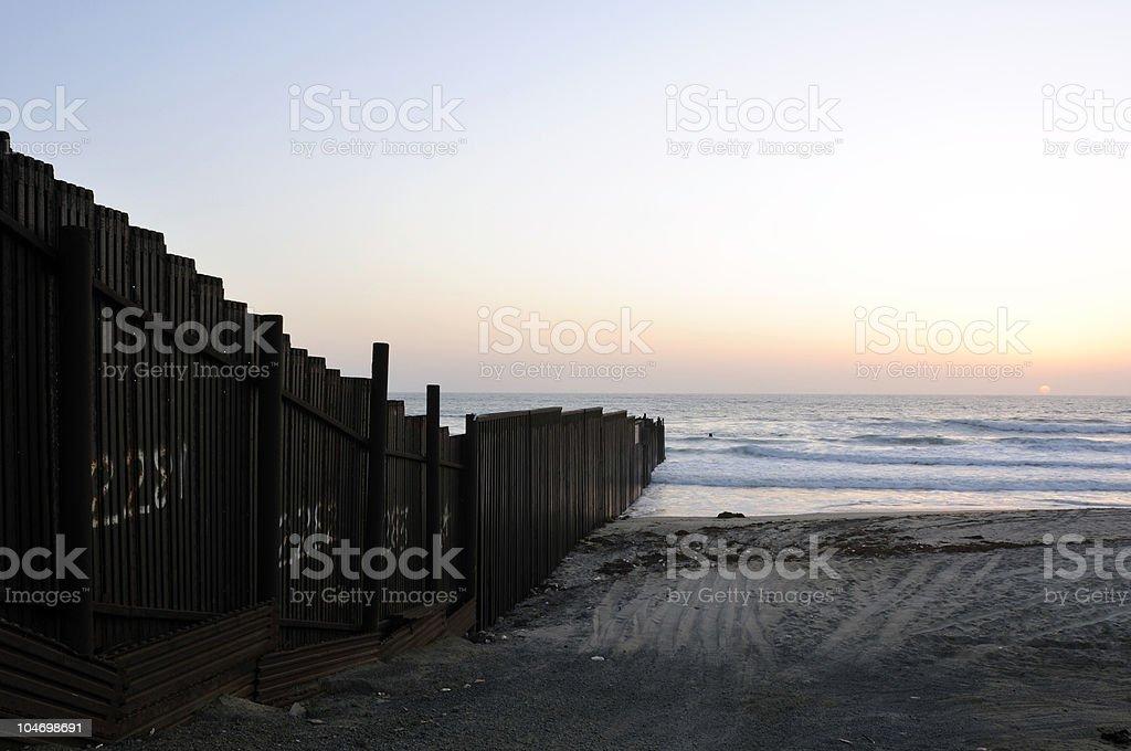 Border Sunset royalty-free stock photo