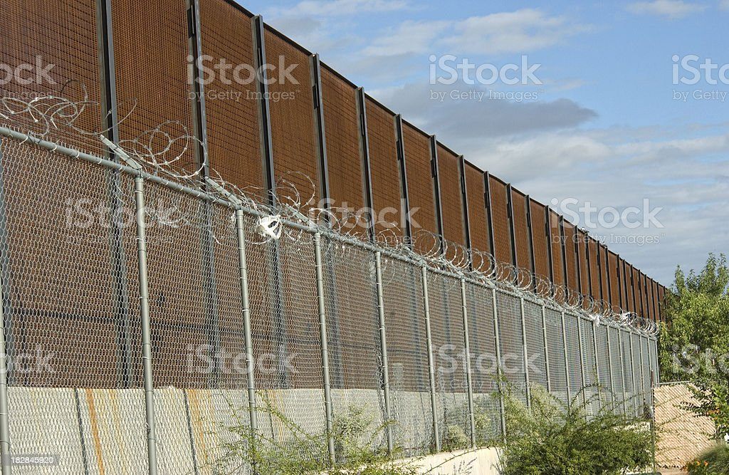 Border Wall and Fence_horizontal. royalty-free stock photo