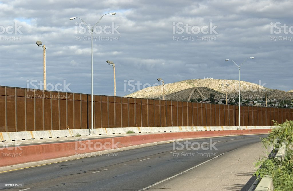 Border Wall between USA and Mexico royalty-free stock photo